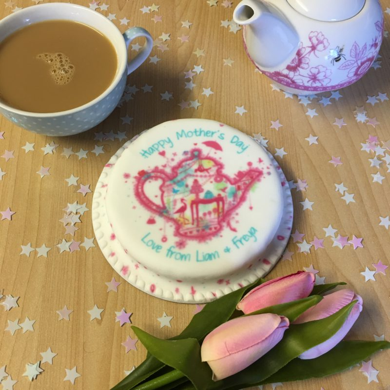 cake and tea mothers day treats