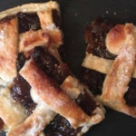 Christmas Food; Mincemeat And Marzipan Slice